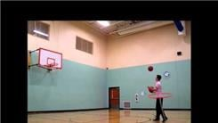 Farthest Basketball Shot While Juggling Two Basketballs In One Hand And Hula Hooping