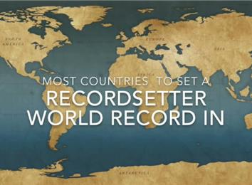 Most Countries To Set RecordSetter World Records In