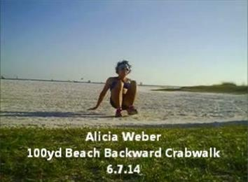 Fastest 100-Yard Beach Backward Crab Walk