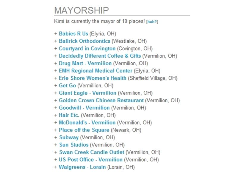 Most Cities In Which To Hold A Foursquare Mayorship At Once