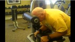 Most Consecutive 120-Pound Front Head Presses By A Male Over 50