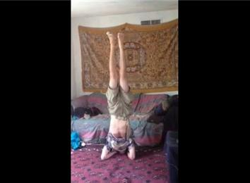 longest headstand with a bird on foot  world record  tai