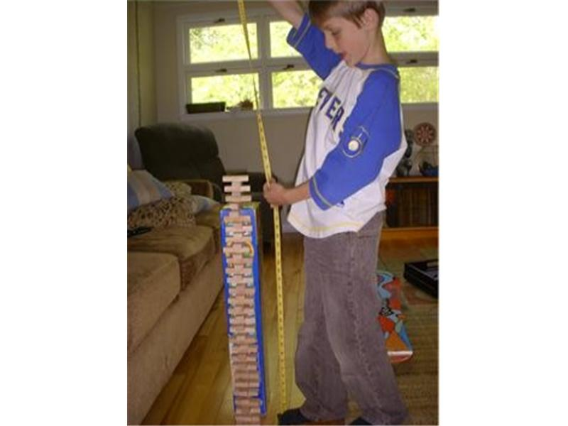 Tallest Jenga Tower Made By An 8-Year Old