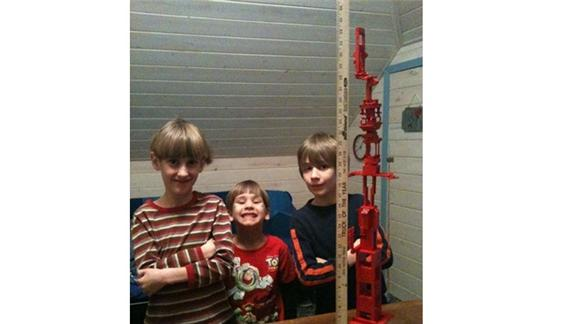 Tallest Red Lego Tower Built By Cousins