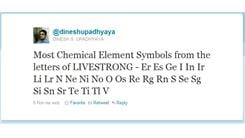 "Most Chemical Element Symbols From The Letters Of ""LIVESTRONG"" In A Single Tweet"