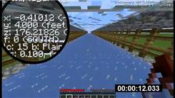 "Farthest Distance Run In One Minute In ""Minecraft"""