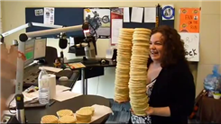 Most Frozen Waffles Stacked In Two Hands