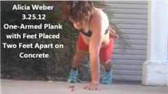 Longest One-Armed Plank With Feet Placed Two Feet Apart