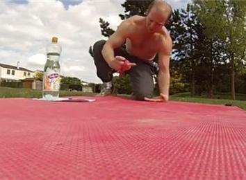 Most One-Armed Back-Of-Hand Push-Ups In 10 Minutes