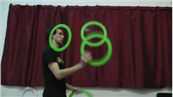 Most Ear-Ring Flips In One Minute While Juggling Three Rings