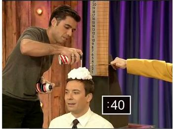 Tallest Shaving Cream Wig Built In One Minute