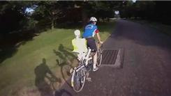 Longest Tandem Bicycle Ride With A Full-Sized Artificial Skeleton In Back Seat