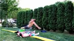 Longest Slip N Slide Jump Over Three People