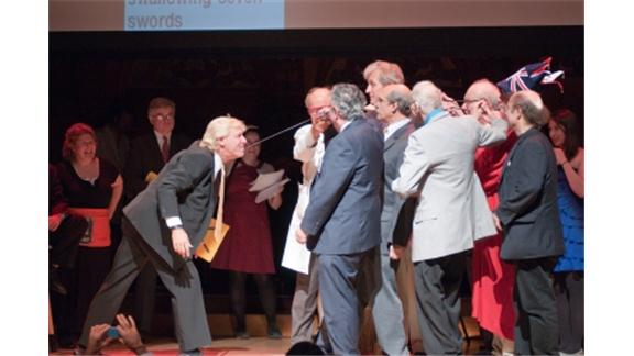Largest Group Of Nobel Laureates To Remove A Sword From Someone\'s Throat