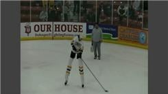 Tallest Ice Skater On Stilts