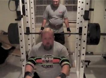 Heaviest Bench Press Wearing A Titan Ram (Athlete Under ...