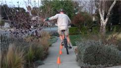 Fastest Time To Weave Through 10 Cones On A Unicycle