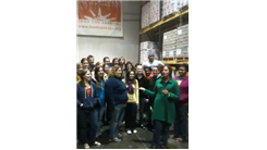Most Franklin College Students Inside New York City Food Bank