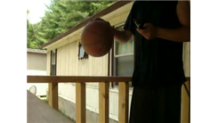 Most Times To Dribble Basketball On A Porch Rail In One Minute