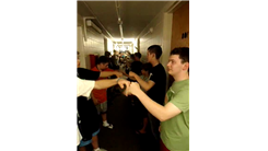 Largest Group To Fist Bump Explode At The Same Time