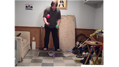Longest Time To Bounce Three Four-Inch Bounce Balls In A Force Bounce Shower Pattern On The Floor While On A Rola bola