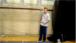 Longest Indoor Putt Of A Golf Ball Into A Wooden Frame