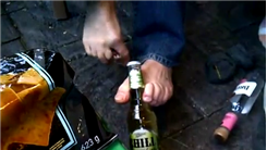 Fastest Time To Open A Beer Bottle Using Feet And A Bottle Opener