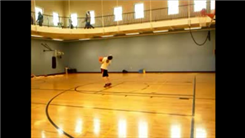 Longest Basketball Blind Shot Made From A Three-Ball Cascade