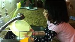 Fastest Dishwashing By A Two-Year-Old