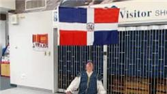 Longest Time To Balance Dominican Republic Flag On Chin While Listening To 'Valiant Quisqueyans'