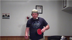 Most Bounces Of A Ping Pong Ball On Alternating Sides Of A Paddle While Juggling Two Balls In One Hand