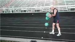 Fastest Mile Run While Dribbling Three Basketballs