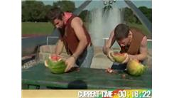 Fastest Time To Eat A 15-Pound Watermelon