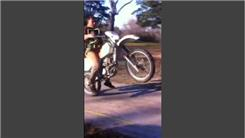 Farthest Dirt Bike Wheelie While Riding With Two Puppies And Playing A Harmonica