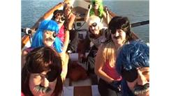 Fastest Figure 8 Whaleboat Row By A Crew Wearing Wigs, Mustaches, And Eye Patches
