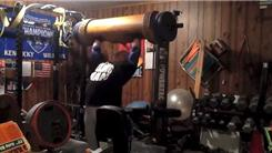 Heaviest Overhead Wooden Log Press (Athlete Under 235 Lbs.)