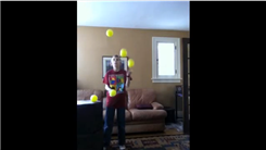 Youngest Person To Juggle Five Large Balls In A Cascade Pattern